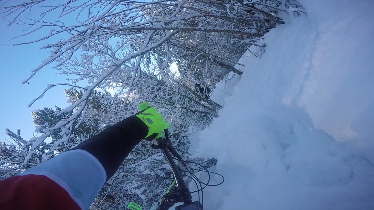 Talviklassikko 2016-02-13 (Winter MTB w/ fails)